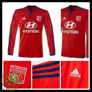 Camisa Futebol Olympique Lyonnais Manga Longa 2015-2016 Ii Masculina
