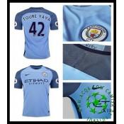 Uniforme De Futebol Manchester City Toure Yaya 2016 2017 I Masculina