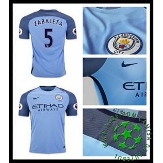 Uniformes De Futebol Manchester City Zabaleta 2016-2017 I Masculina