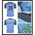 Uniformes De Futebol Manchester City Fernandinho 2016/2017 I Masculina