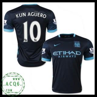 Equilíbrio Camisa Futebol Kun Aguero Manchester City Masculina 2015 2016 Ii Online Store