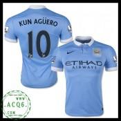 Do Local De Venda Camisas Futebol Kun Aguero Manchester City Masculina 2015-2016 I Loja On-Line