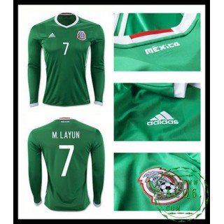Comprou Camisa Du Futebol Manga Longa M. Layun México Masculina 2016/2017 I On-Line