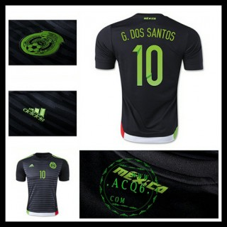 Camisa Futebol México (10 G.Dos Santos) 2015-2016 I Masculina