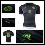 Camisa De Futebol México (18 A.Guardado) 2015 2016 I Masculina