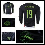 Camisas De Futebol México (19 O.Peralta) Manga Longa 2015/2016 I Masculina