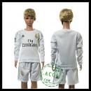 Real Madrid Camisa Du Futebol Manga Longa 2015 2016 I Infantil