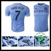 Camisas Futebol New York City Fc (7 David Villa) 2015 2016 I Masculina