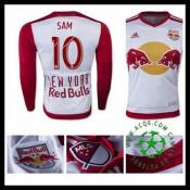 Camisa De Futebol New York Vermelho Bulls (10 Sam) Manga Longa 2015/2016 I Masculina