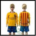Barcelona Camisas De Futebol Manga Longa 2015-2016 Ii Infantil