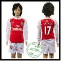 Arsenal Camisa Du Futebol Alexis Manga Longa 2015-2016 I Infantil