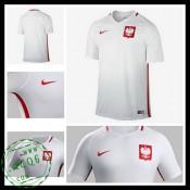 Uniformes De Futebol Polônia Euro 2016/2017 I Masculina
