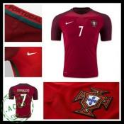 Camisetas Portugal Ronaldo Euro 2016/2017 I Masculina