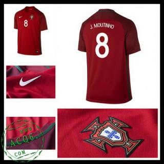 Camisas De Futebol Portugal J.Moutinho Euro 2016/2017 I Masculina