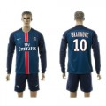 Paris Saint Germain Camisas De Futebol Ibrahimovic Manga Longa 2015 2016 I Masculina