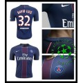 Camisas De Futebol Paris Saint Germain David Luiz 2016 2017 I Masculina