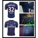 Camisas De Futebol Paris Saint Germain David Luiz 2016 2017 I Masculina