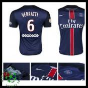 Camisa De Futebol Paris Saint Germain Verratti 2015 2016 I Masculina