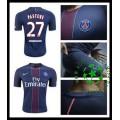 Camisas De Futebol Paris Saint Germain Pastore 2016 2017 I Masculina