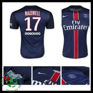 Camisa Du Futebol Paris Saint Germain Maxwell 2015/2016 I Masculina