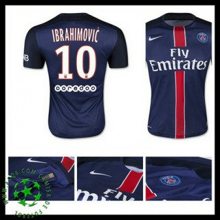 Camisa De Futebol Paris Saint Germain Ibrahimovic 2015-2016 I Masculina