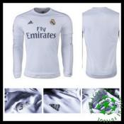 Camisas Futebol Real Madrid Manga Longa 2015-2016 I Masculina