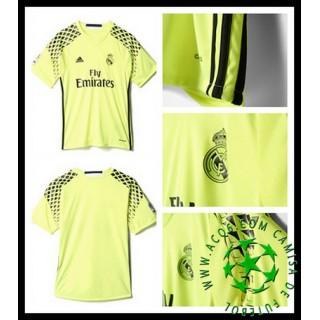 Uniformes De Futebol Real Madrid Goleiro 2016/2017 Ii Masculina