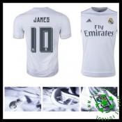 Camisas Real Madrid (10 James) 2015/2016 I Masculina
