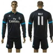 Real Madrid Camisa Du Futebol Bale Manga Longa 2015/2016 Iii Masculina