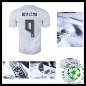 Camisa De Futebol Real Madrid (9 Benzema) 2015 2016 I Masculina
