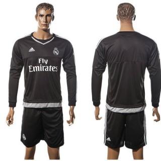 Real Madrid Camisetas Manga Longa 2015/2016 I Goleiro
