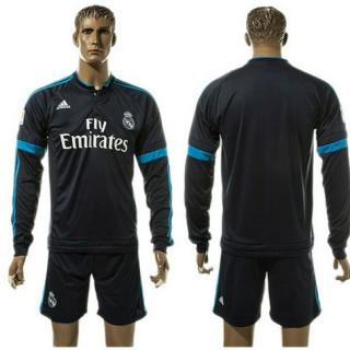 Real Madrid Camisa Futebol Manga Longa 2015 2016 Iii Masculina