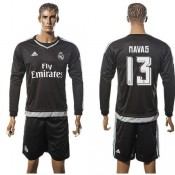 Real Madrid Camisas De Futebol Navas Manga Longa 2015/2016 I Goleiro