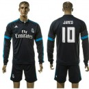 Real Madrid Camisas De Futebol James Manga Longa 2015-2016 Iii Masculina
