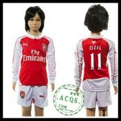 Arsenal Uniforme Futebol Ozil Manga Longa 2015/2016 I Infantil