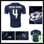 Camisas Futebol Real Madrid (4 Sergio Ramos) 2015-2016 Iii Masculina