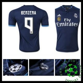 Camisa Futebol Real Madrid (9 Benzema) 2015 2016 Iii Masculina