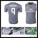 Camisas Futebol Real Madrid (9 Benzema) 2015-2016 Ii Masculina