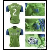 Win Uniforme De Futebol Dempsey Seattle Sounders Masculina 2016 2017 I Loja On-Line
