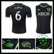 Camisa Futebol Seattle Sounders (6 Alonso) 2015/2016 Iii Masculina