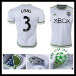 Camisa Du Futebol Seattle Sounders (3 Evans) 2015 2016 Ii Masculina