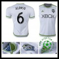 Camisa Seattle Sounders (6 Alonso) 2015 2016 Ii Masculina