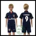 Atlético Madrid Camisas De Futebol F.Torres 2015 2016 Ii Infantil