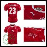 Camisas Futebol (23 Shaqiri) Suíça Autêntico I Euro 2016 Masculina