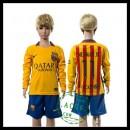 Barcelona Camisa Du Futebol Neymar Jr Manga Longa 2015 2016 Ii Infantil