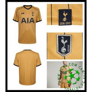 Uniforme Futebol Tottenham Hotspur 2016 2017 Iii Masculina