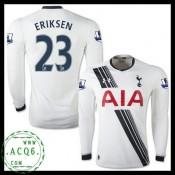 Comprou Camisas Futebol Manga Longa Eriksen Tottenham Masculina 2015-2016 I Loja On-Line
