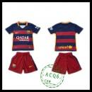 Barcelona Camisa Futebol 2015/2016 I Infantil