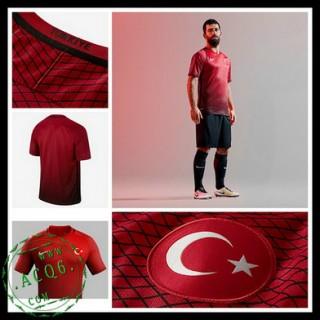 Camisas De Futebol Turquia Euro 2016/2017 I Masculina