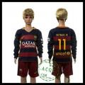 Barcelona Camisa Futebol Neymar Jr Manga Longa 2015-2016 I Infantil